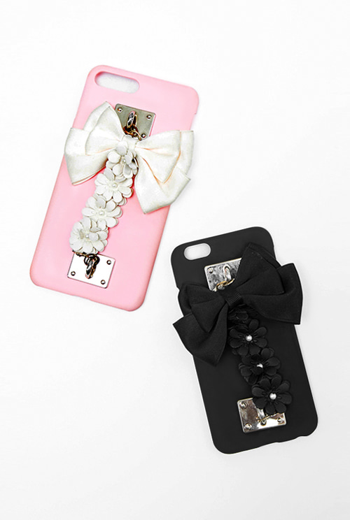 ribbon flower phonecase (2 color)