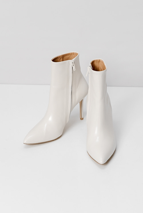 white ankle boots *handmade*